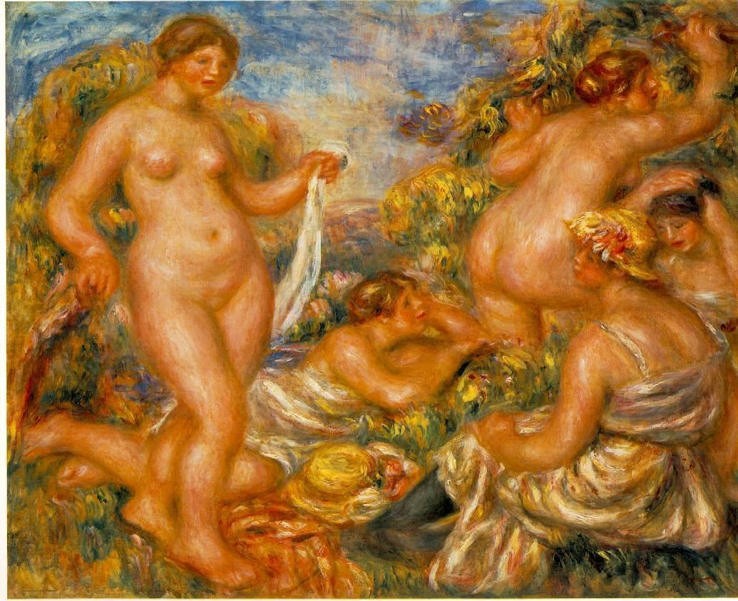 Bathers 1918 | Pierre Auguste Renoir | Oil Painting
