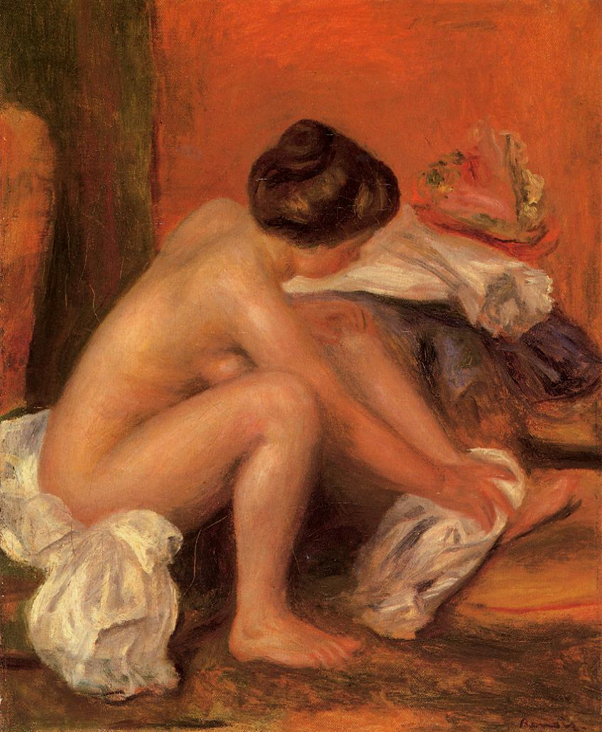 Bather Drying Her Feet 1907 | Pierre Auguste Renoir | Oil Painting