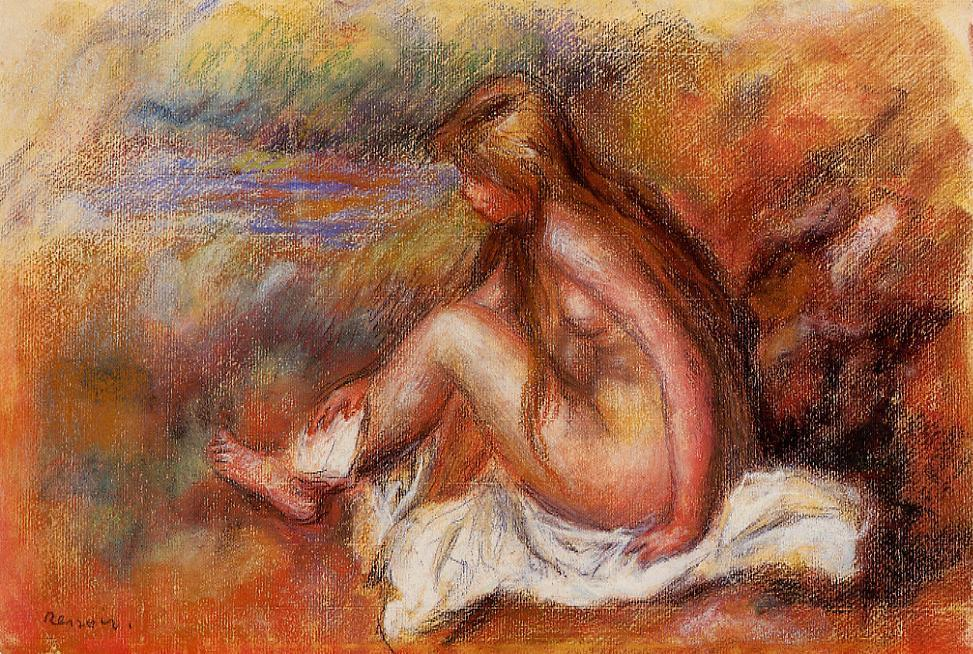 Bather Seated by the Sea | Pierre Auguste Renoir | Oil Painting
