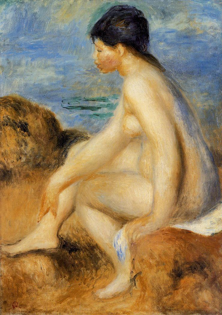 Bather 1892-1893 | Pierre Auguste Renoir | Oil Painting