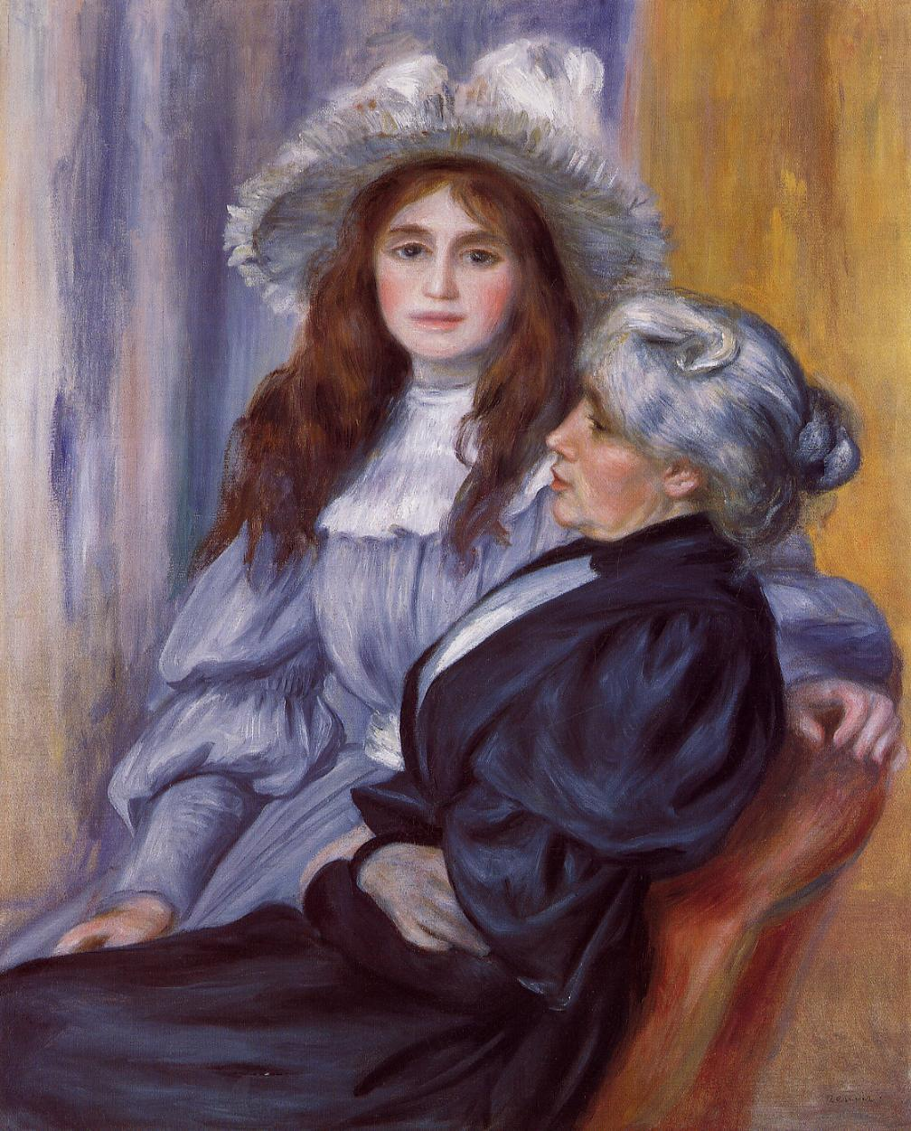Berthe Morisot and Her Daughter Julie Manet 1894 | Pierre Auguste Renoir | Oil Painting