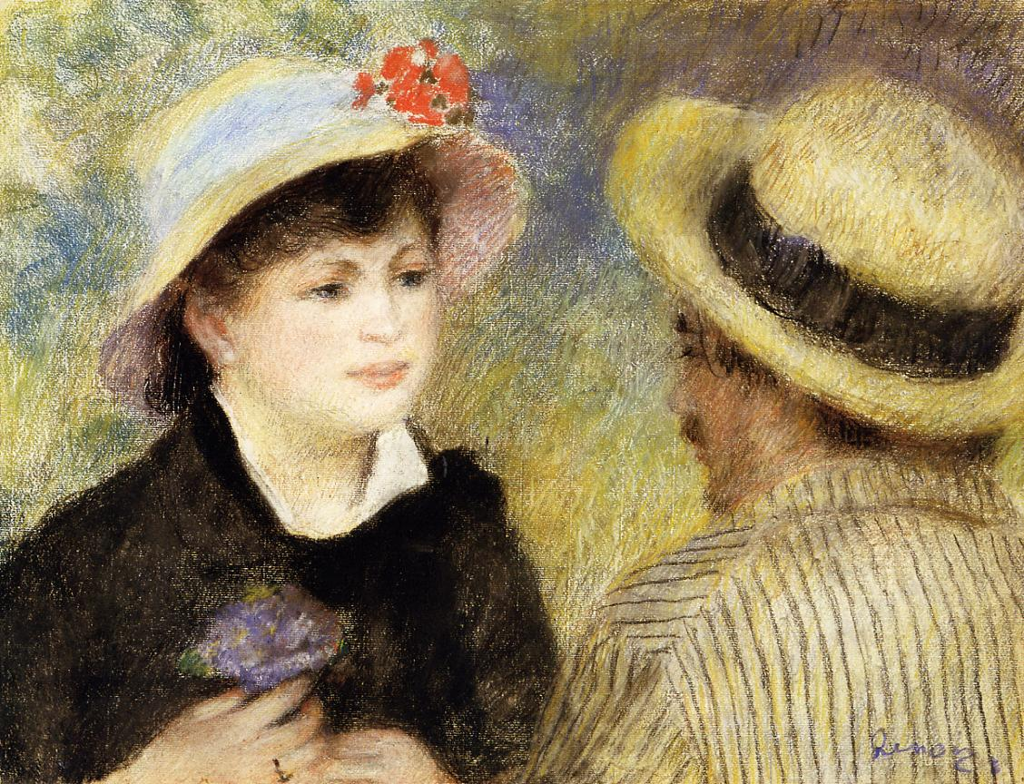 Boating Couple (aka Aline Charigot and Renoir) 1880-1881 | Pierre Auguste Renoir | Oil Painting