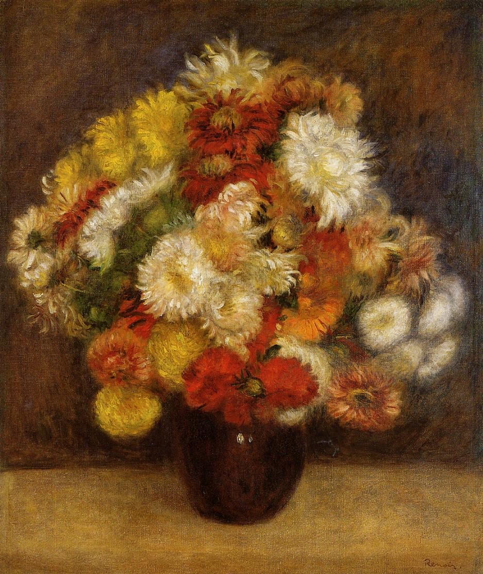 Bouquet of Chrysanthemums 1881 | Pierre Auguste Renoir | Oil Painting
