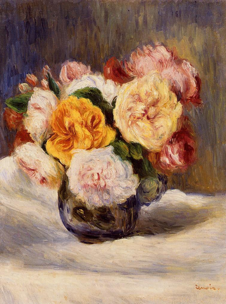Bouquet of Roses 1883 | Pierre Auguste Renoir | Oil Painting