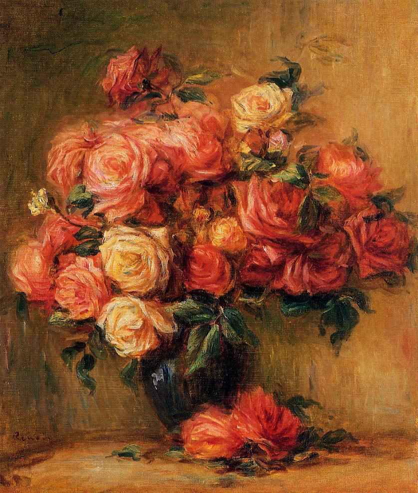 Bouquet of Roses 1890-1900 | Pierre Auguste Renoir | Oil Painting