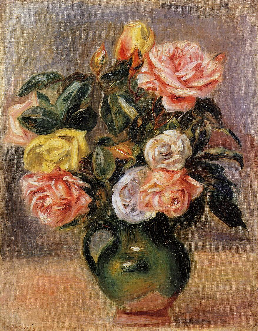 Bouquet of Roses | Pierre Auguste Renoir | Oil Painting