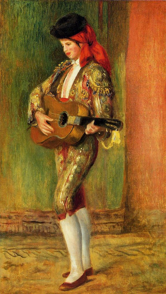 Young Guitarist Standing 1897 | Pierre Auguste Renoir | Oil Painting