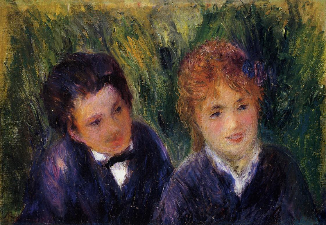 Young Man and Young Woman 1876 | Pierre Auguste Renoir | Oil Painting