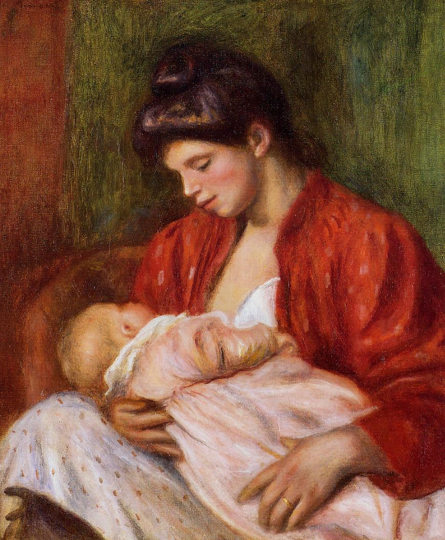 Young Mother 1898 | Pierre Auguste Renoir | Oil Painting