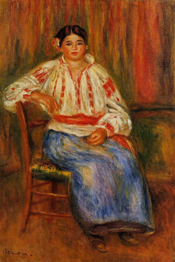 Young Roumanian 1914 | Pierre Auguste Renoir | Oil Painting