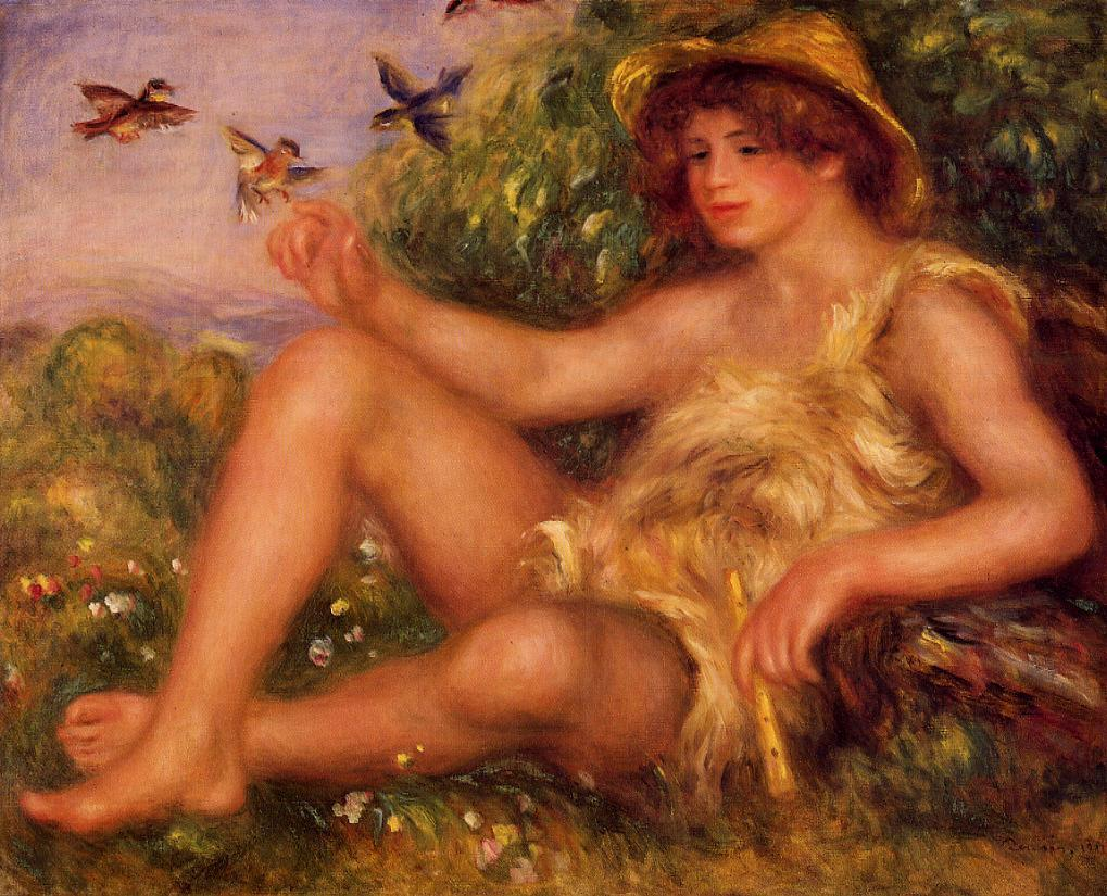 Young Shepherd in Repose (aka Alexander Thurneysson) 1911 | Pierre Auguste Renoir | Oil Painting