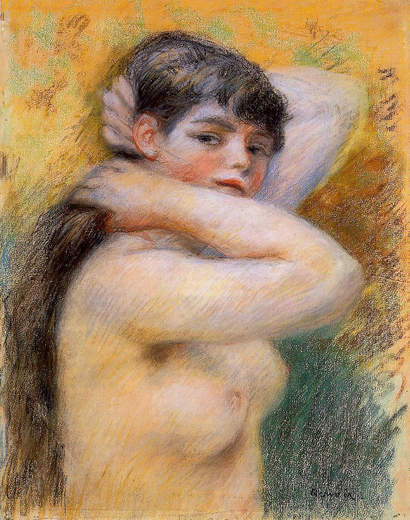 Young Woman at Her Toilette 1885 | Pierre Auguste Renoir | Oil Painting