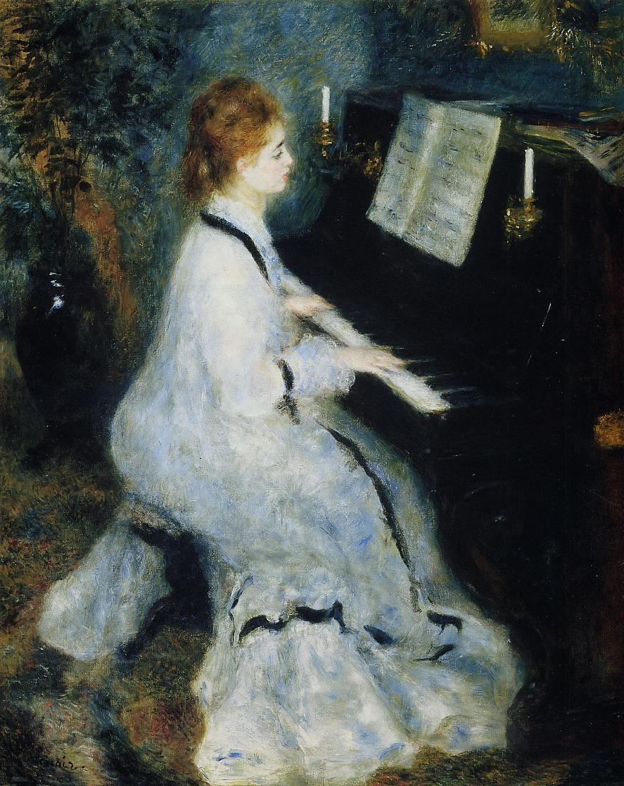 Young Woman at the Piano 1876 | Pierre Auguste Renoir | Oil Painting