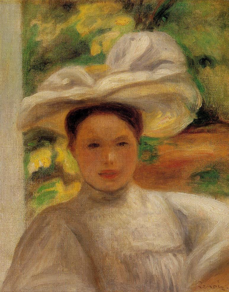 Young Woman in a Hat 1895 | Pierre Auguste Renoir | Oil Painting