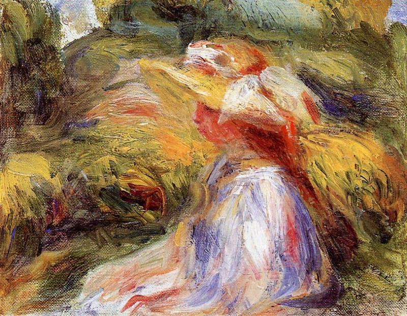 Young Woman in a Hat 1918 | Pierre Auguste Renoir | Oil Painting