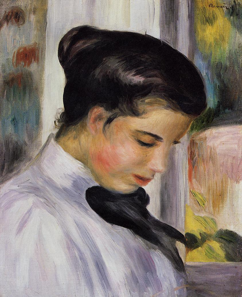 Young Woman in Profile 1897 | Pierre Auguste Renoir | Oil Painting