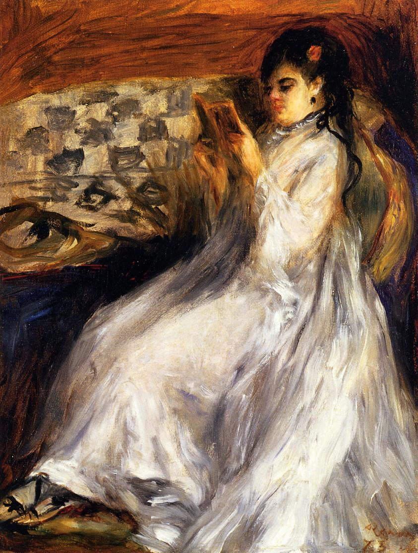 Young Woman Reading 1873 | Pierre Auguste Renoir | Oil Painting