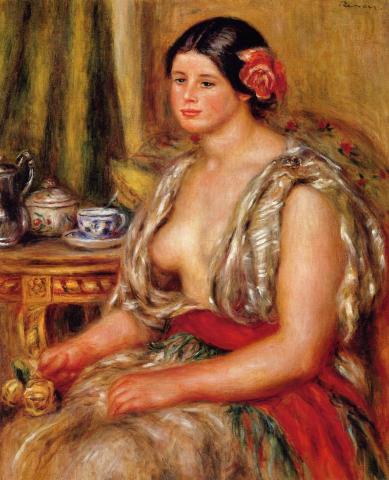 Young Woman Seated in an Oriental Costume 1905 | Pierre Auguste Renoir | Oil Painting