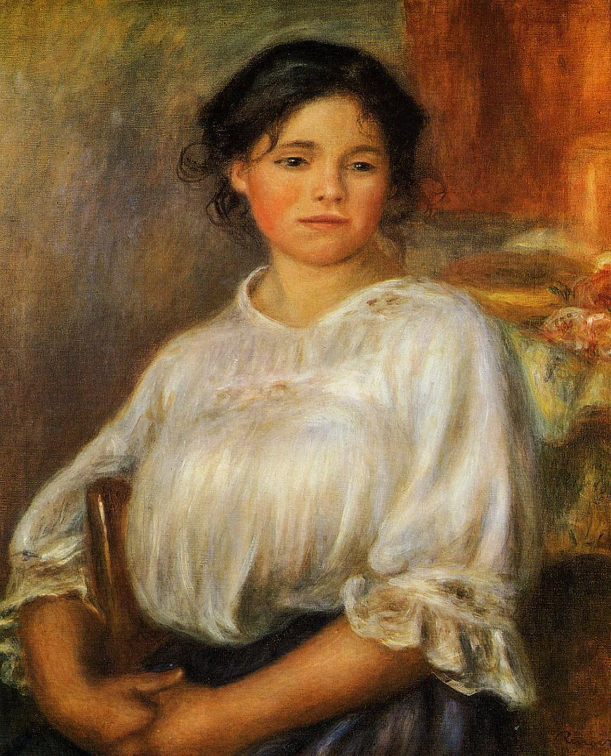 Young Woman Seated 1909 | Pierre Auguste Renoir | Oil Painting