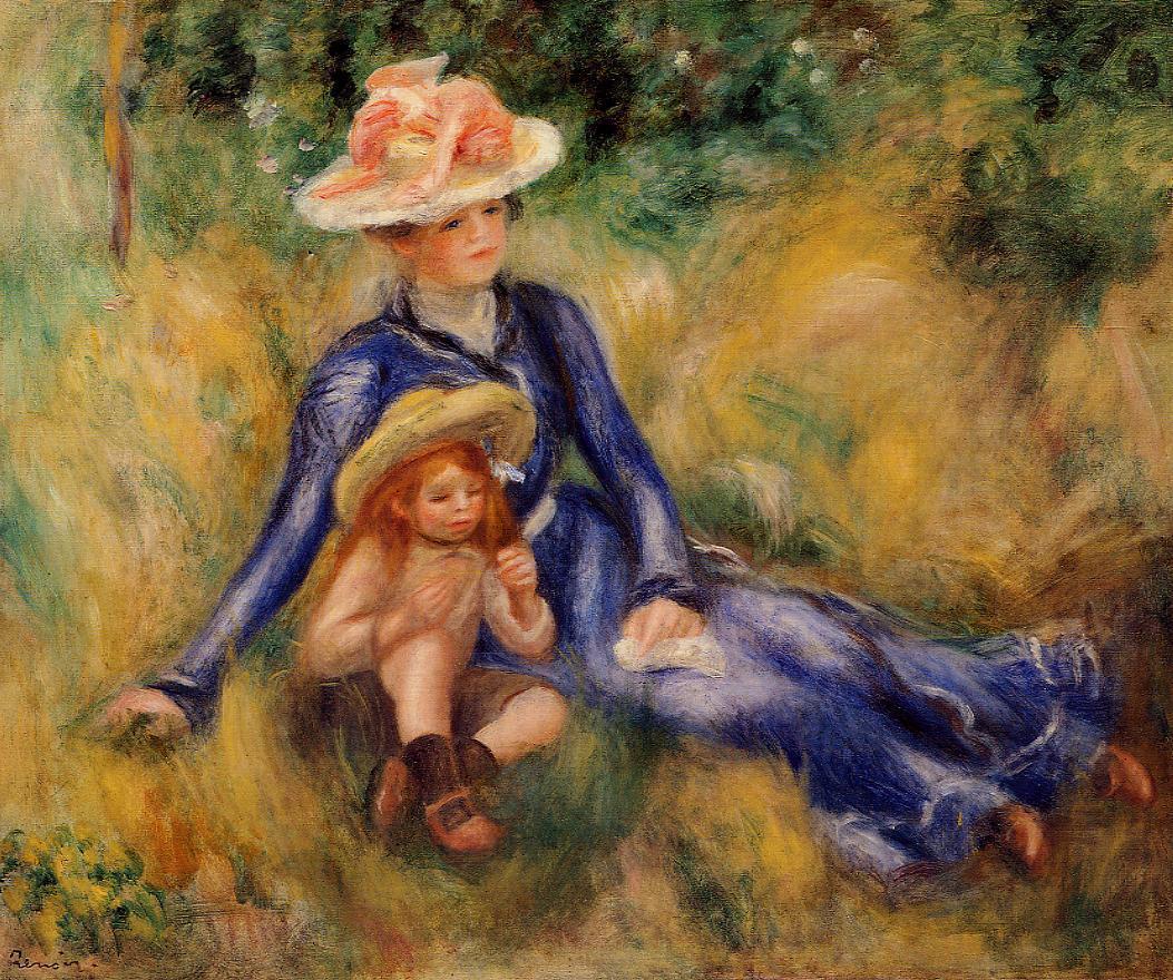 Yvonne and Jean 1899 | Pierre Auguste Renoir | Oil Painting