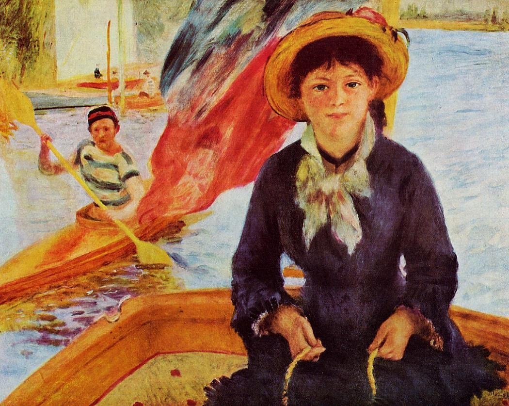 Canoeing (aka Young Girl in a Boat) 187 | Pierre Auguste Renoir | Oil Painting