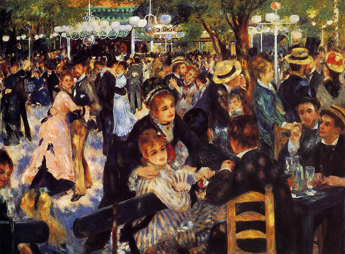Dance at the Moulin de la Galette 1876 | Pierre Auguste Renoir | Oil Painting