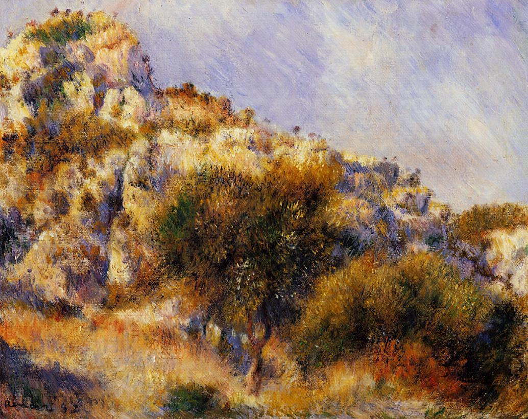 Rocks at l'Estaque 1882 | Pierre Auguste Renoir | Oil Painting