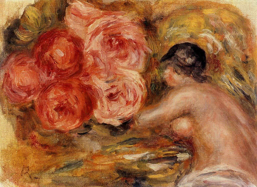 Roses and Study of Gabrielle 1915 | Pierre Auguste Renoir | Oil Painting