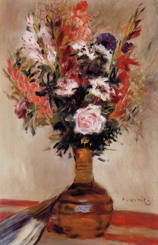 Roses in a Vase 1872 | Pierre Auguste Renoir | Oil Painting