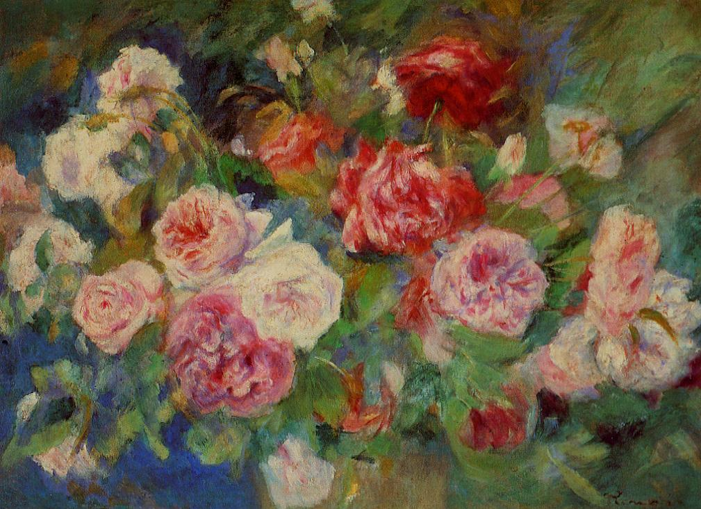 Roses 1885 | Pierre Auguste Renoir | Oil Painting