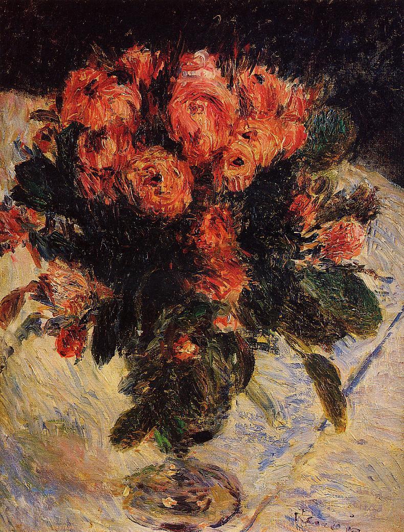 Roses 1890 | Pierre Auguste Renoir | Oil Painting