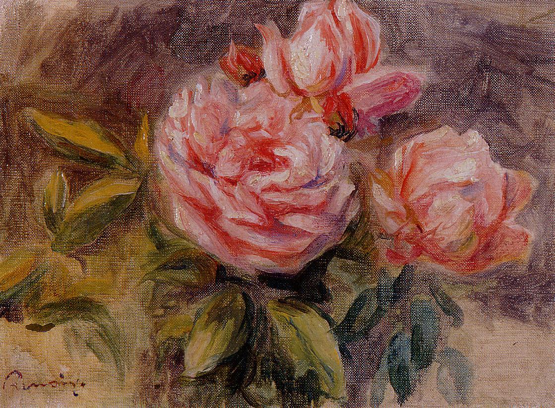 Roses 1904-1910 | Pierre Auguste Renoir | Oil Painting