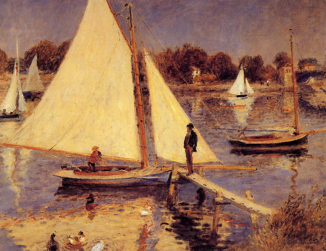 Sailboats at Argenteuil 1874 | Pierre Auguste Renoir | Oil Painting