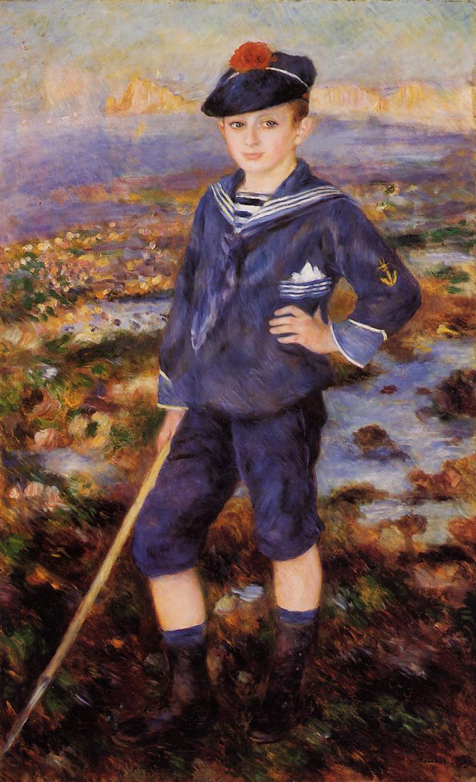 Sailor Boy (aka Portrait of Robert Nunes) 1883 | Pierre Auguste Renoir | Oil Painting