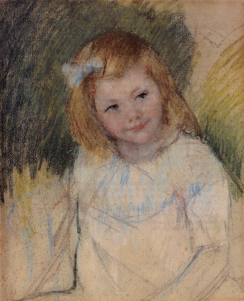 Sara Looking to the Right 1901 | Pierre Auguste Renoir | Oil Painting