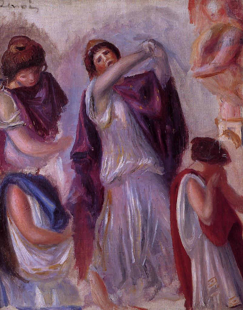 Scene Antique - Femmes aux Peplums 1895 | Pierre Auguste Renoir | Oil Painting