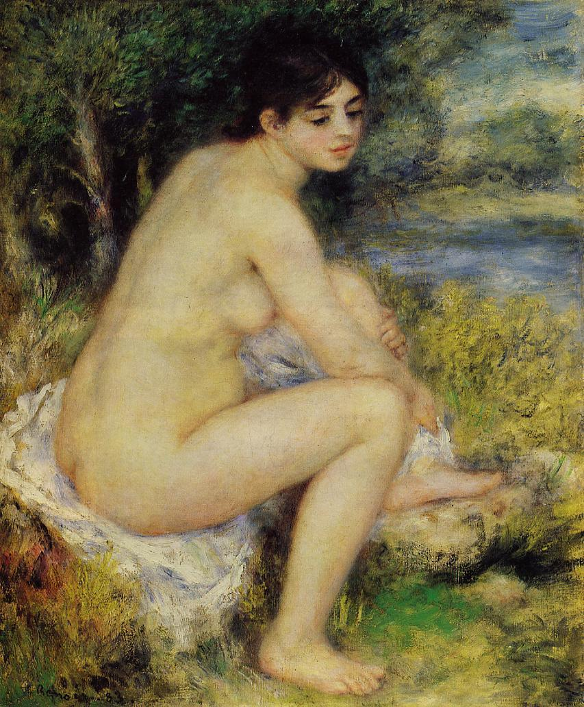 Seated Bather2 1883 | Pierre Auguste Renoir | Oil Painting
