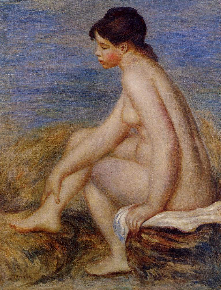 Seated Bather 1882 | Pierre Auguste Renoir | Oil Painting