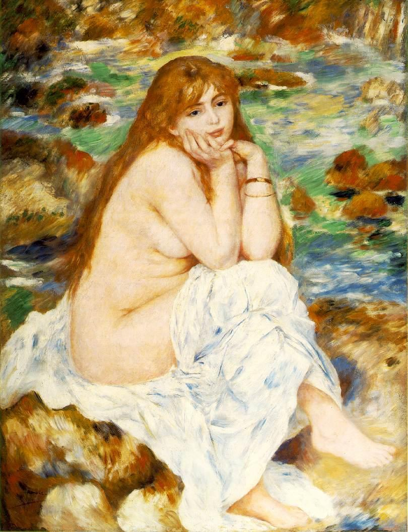 Seated Bather 1883-1884 | Pierre Auguste Renoir | Oil Painting