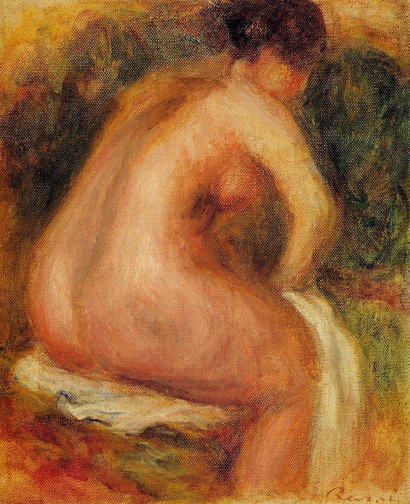 Seated Female Nude 1910 | Pierre Auguste Renoir | Oil Painting
