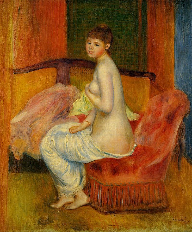 Seated Nude (aka At East) 1885 | Pierre Auguste Renoir | Oil Painting