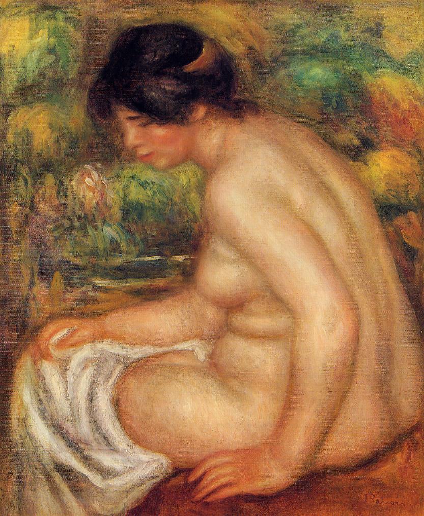 Seated Nude in Profile (aka Gabrielle) 1913 | Pierre Auguste Renoir | Oil Painting