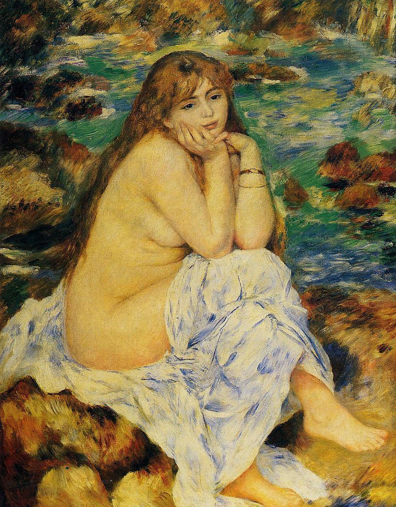 Seated Nude 1885 | Pierre Auguste Renoir | Oil Painting