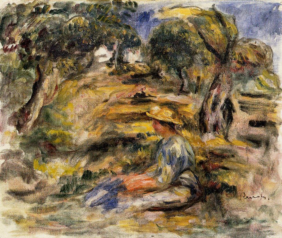 Seated Woman in Blue | Pierre Auguste Renoir | Oil Painting