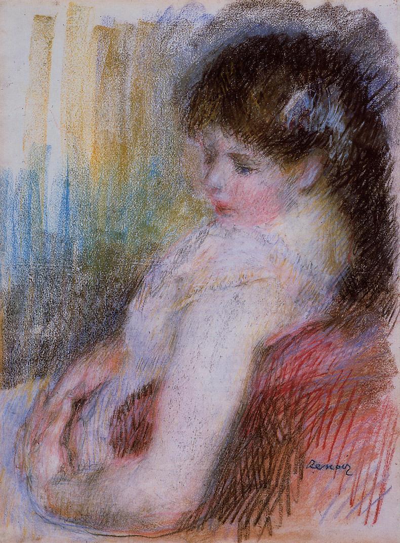 Seated Woman 1879 | Pierre Auguste Renoir | Oil Painting