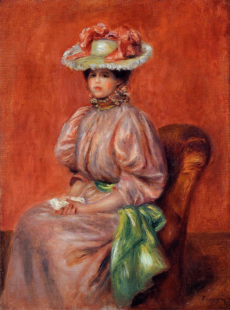 Seated Woman 1895 | Pierre Auguste Renoir | Oil Painting