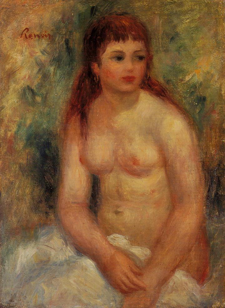 Seated Young Woman Nude 1910 | Pierre Auguste Renoir | Oil Painting