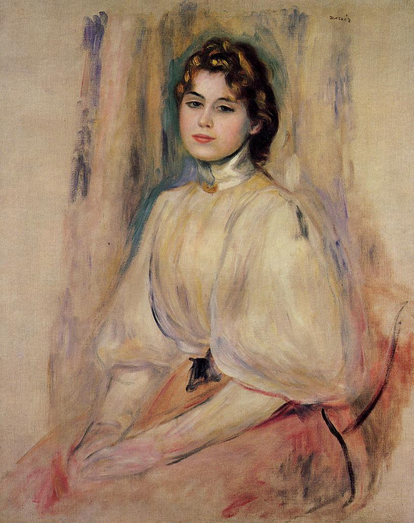 Seated Young Woman 1890 | Pierre Auguste Renoir | Oil Painting