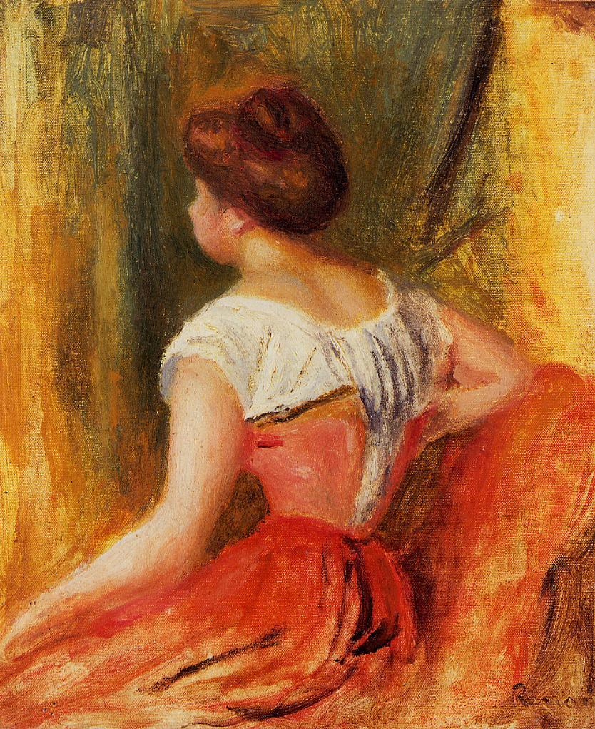 Seated Young Woman 1896 | Pierre Auguste Renoir | Oil Painting