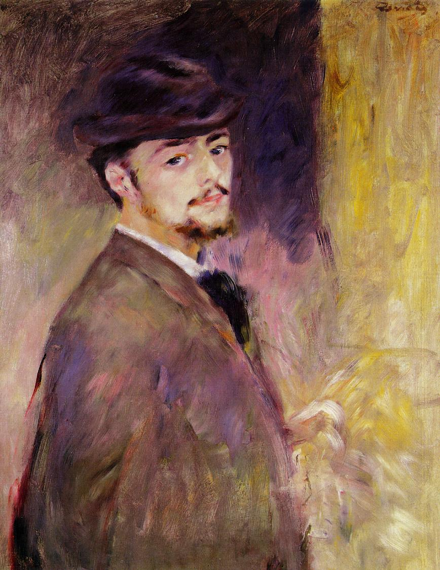Self Portrait at the Age of Thirty-Five 1876 | Pierre Auguste Renoir | Oil Painting